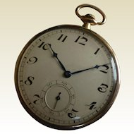 "1924 Gentleman's  ""ROSE"" Gold Pocket watch"