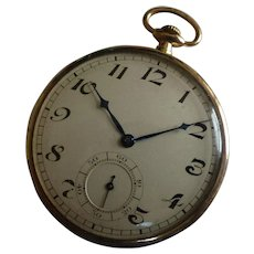 "1924 Gentleman's  ""ROSE"" Gold Pocket watch"