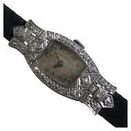 Mechanical Diamond Ladies watch - ALL Platinum