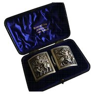 Cased Silver antique Buckles