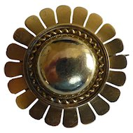 "Round ""Sunburst""  18k mourning  Brooch"