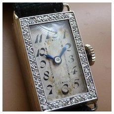 1924 Mechanical Diamond cocktail watch - 18 Kt