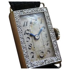 1924 Mechanical Diamond cocktail watch - 18 Kt