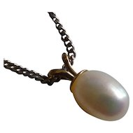 Large Pearl Gold Pendent