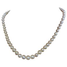 Fine string of Cultured Pearls