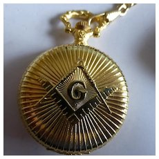 Masonic Packet Watch & Chain....LAST ONE !