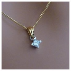 Princess Cut Diamond Pendent
