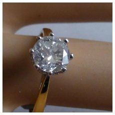 1 Carat Brilliant cut Diamond Ring