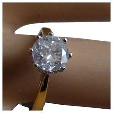 1 Carat Brilliant cut Diamond Ring