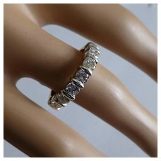 1.24 Carats half Eternity Ring