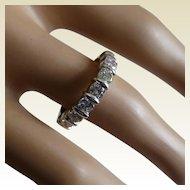 1.24 Carats half Eternity Ring