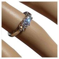 All Platinum, 3 stone Diamond Ring