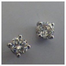 Single Stone DIAMOND Ear Studs