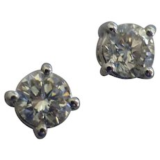 Single Stone DIAMOND Ear Studs