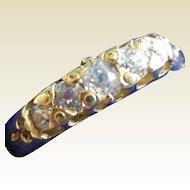 Victorian 18k 5 stine Diamond Ring
