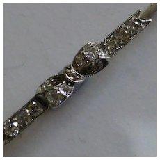 "Antique Diamond ""Bow"" Brooch"