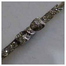 "Antique Diamond ""Bow"" Brooch"