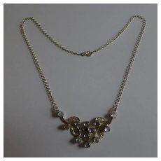 Silver & Moon Stone Necklace