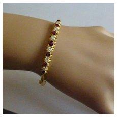 Fine Ruby & Diamond 18k Bracelet