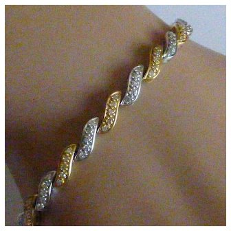 Classic 18k fancy Diamond Bracelet