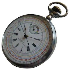 """OMEGA"" Cadran Breveté S.G.D.G. Swiss made. Chronograph"