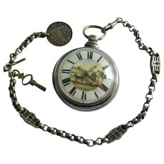 Fusee - Silver - Pocket Watch, Chain & Key