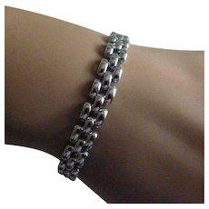 White gold link Bracelet