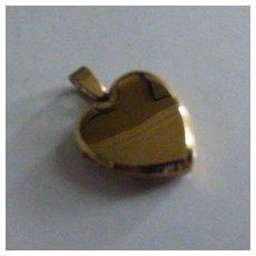 """Extra heavy """"Heart"""" shape GOLD Locket"""