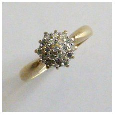 Natural Diamond cluster ring