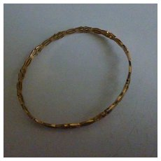 Slave Bangle, hand made in Gold