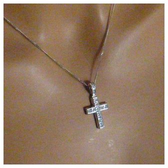 The finess Platinum Diamond Cross