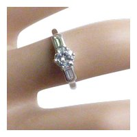 Edwardian Platinum Single Stone Diamond Ring