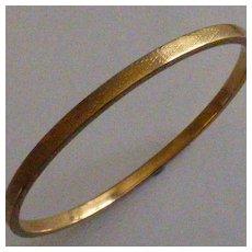 Gold Engine turned Slave Bangle