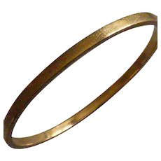 Gold Engine turned Slave Bangle