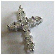 Small Diamond Cross & Chain