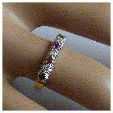 Ruby  & Diamond 18k Ring