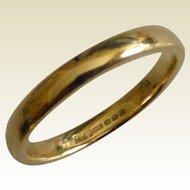 "New, unused 18k ""Court"" Wedding ring"