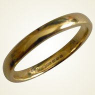"New, unused 18k ""Court"" Wedding ring"