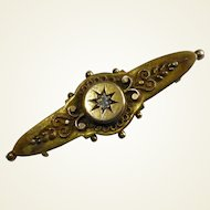 15 k  Diamond, Gold Hallmarked Brooch 1899