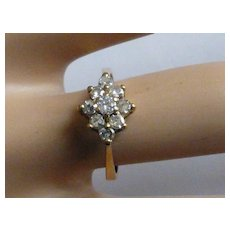 Pretty natural Diamond Cluster ring