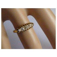 Hallmarked 1912 5 stone Diamond Ring @ half price