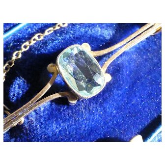 Very neat Antique Aquamarine Brooch