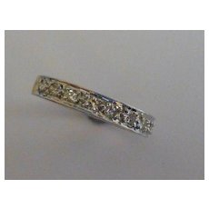 Diamond half 18k eternity Ring