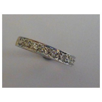 Diamond half 18k eternity Ring