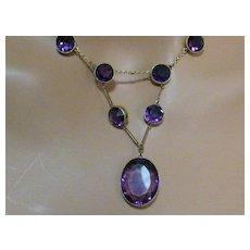 15k Amethyst paste Necklace