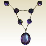 15k Amethyst paste Necklace