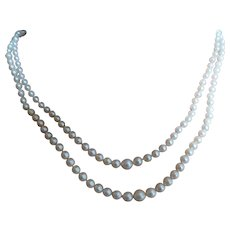Young ladies 2 row cultured Pearl necklace