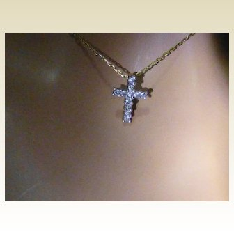 Diamond Cross for young Lady or Child