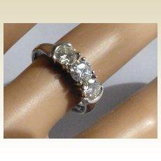 Fine 3 stone Platinum Diamond ring