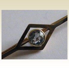 15 carat GOLD Victorian Aquamarine Brooch